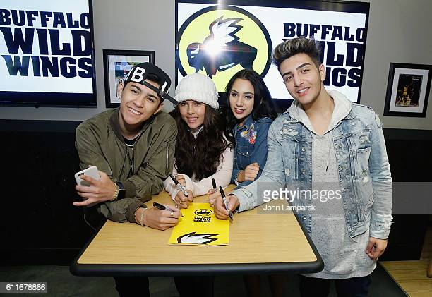 Maxso Casandra Ashe Calista Quinn and Greg Marks attend the Parimore Entertainment Meet Greet at Buffalo Wild Wings on September 30 2016 in New York...