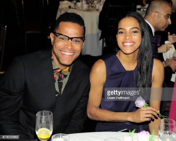 Maxwell and Amber Tolliver attend Girls Inc of New York City 2017 Spring Luncheon at Metropolitan Club on April 24 2017 in New York City