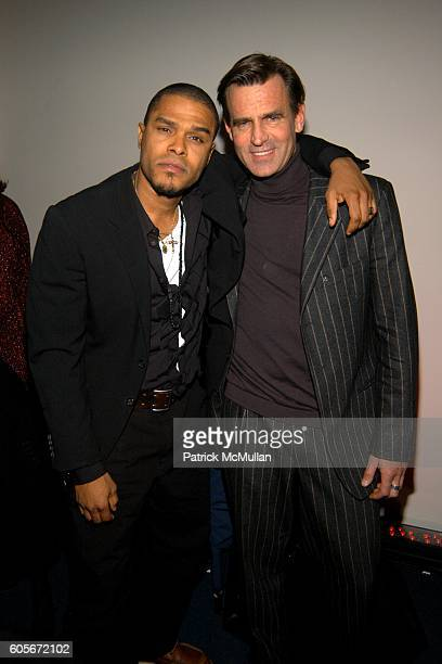 Maxwell and Paul Beck attend VERSACE VIP Dinner at 1 Beacon Court on February 7 2006 in New York