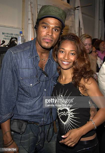 Maxwell and Rozonda 'Chilli' Thomas of TLC during MercedesBenz Fashion Week Spring 2004 Kenneth Cole Front Row and Backstage at Gertrude Tent Bryant...