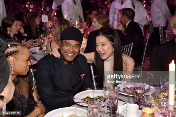 Maxwell and Vera Wang attend the Hot Pink Party hosted by the Breast Cancer Research Foundation at Park Avenue Armory on May 15 2019 in New York City