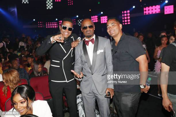 Maxwell Big Tigger and guest in the audience at 2017 BET Awards at Microsoft Theater on June 25 2017 in Los Angeles California