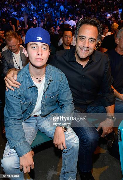 Maxwell Bradley Garrett and his father comedian Brad Garrett attend the 'High Stakes Mayweather v Berto' fight presented by Showtime at MGM Grand...