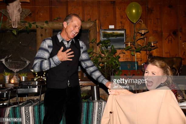 Maxwell Caufield and Juliet Millas celebrate the 60th Birthday of Maxwell Caufield at the Deer Lodge on November 23 2019 in Ojai California
