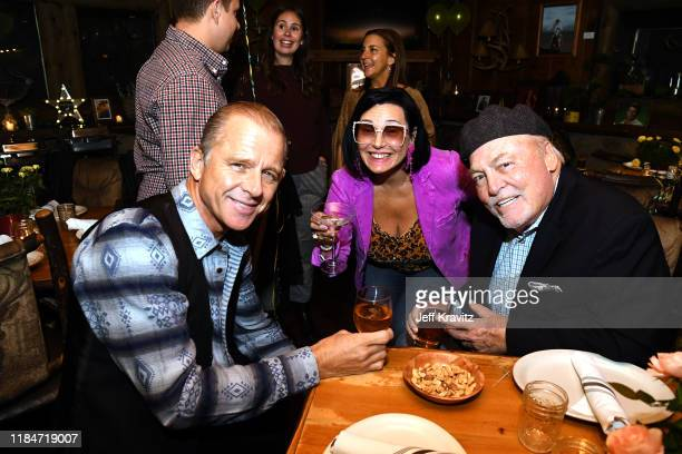 Maxwell Caufield Malgosia Tomassi and Stacey Keach celebrate the 60th Birthday of Maxwell Caufield at the Deer Lodge on November 23 2019 in Ojai...