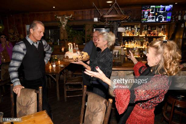 Maxwell Caufield Melissa Caufield and Juliet Mills celebrate the 60th Birthday of Maxwell Caufield at the Deer Lodge on November 23 2019 in Ojai...