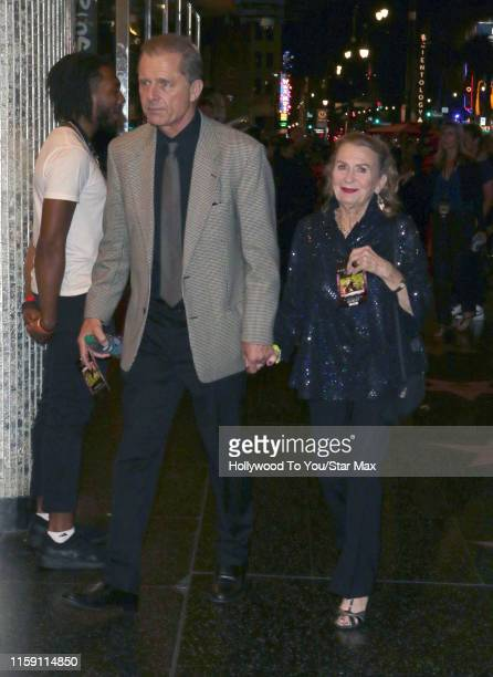 Maxwell Caulfield and Juliet Mills are seen on August 01 2019 in Los Angeles California