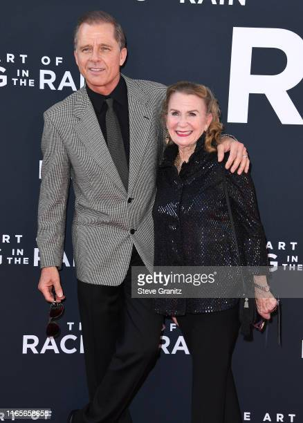 Maxwell Caulfield and Juliet Mills arrives at the Premiere Of 20th Century Fox's The Art Of Racing In The Rain at El Capitan Theatre on August 01...