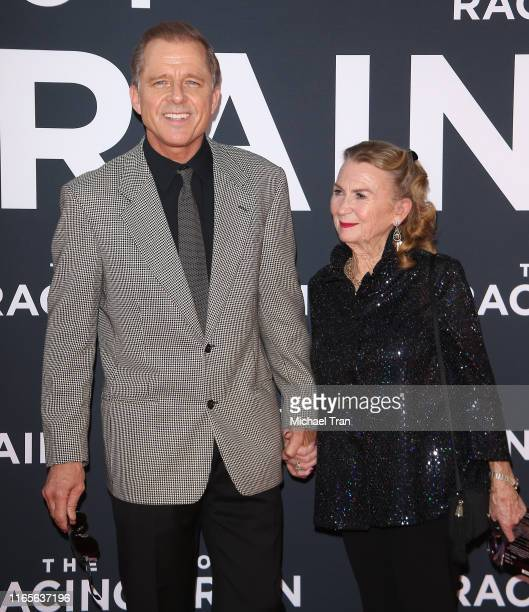 Maxwell Caulfield and Juliet Mills attend the Los Angeles premiere of 20th Century Fox's The Art of Racing In The Rain held at El Capitan Theatre on...