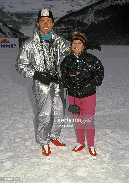 Maxwell Caulfield and Juliet Mills during Chateau Lake Louise Centennial Celebrity Sports Invitational at Chateau Lake Louise in Lake Louise Alberta...