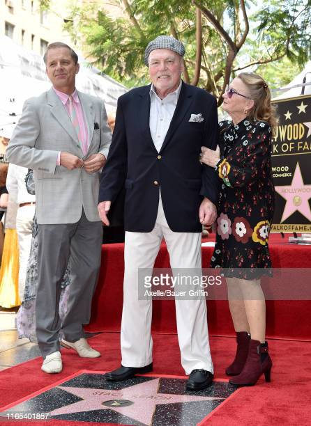 Maxwell Caulfield Stacy Keach and Juliet Mills attend the ceremony honoring Stacy Keach with a Star on the Hollywood Walk of Fame on July 31 2019 in...