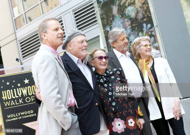 Maxwell Caulfield Stacy Keach Juliet Mills and guests attend the ceremony honoring Stacy Keach with a Star on The Hollywood Walk of Fame held on July...