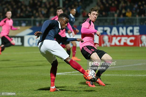Maxwell Cornet of France during the Uefa U21 European Championship qualifier between France and Scotland at Stade Jean Bouin on March 24 2016 in...
