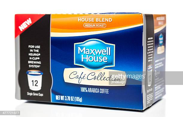 maxwell house medium roast blend k-cup box - keurig green mountain stock pictures, royalty-free photos & images
