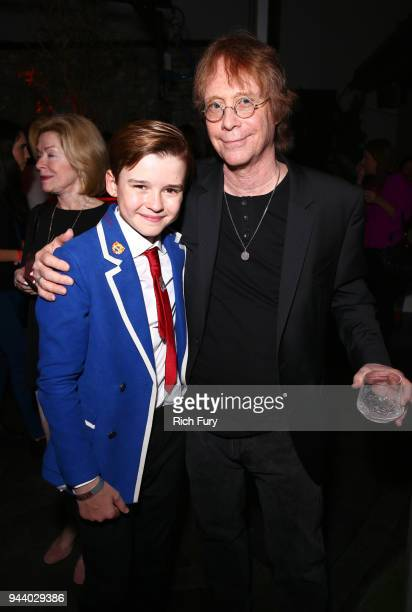 Maxwell Jenkins and Bill Mumy attend Netflix's 'Lost In Space' Los Angeles premiere on April 9 2018 in Los Angeles California