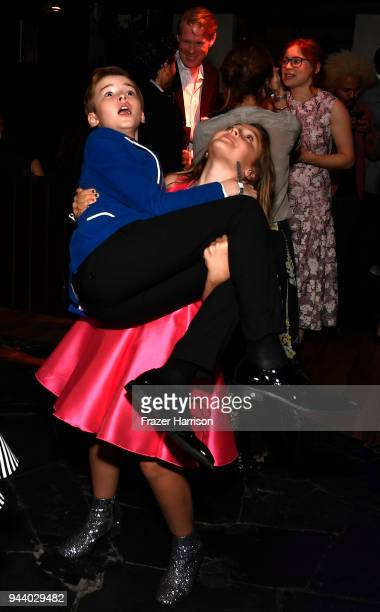Maxwell Jenkins and sister Samantha Jenkins attend the Premiere Of Netflix's 'Lost In Space' Season 1 After Party at Le Jardin LA on April 9 2018 in...