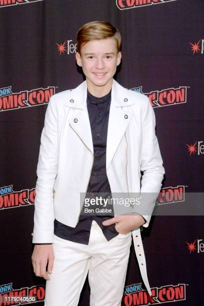Maxwell Jenkins attends the Netflix Presents Lost in Space at New York Comic Con 2019 Day 3 at Jacob K Javon October 05 2019 in New York City
