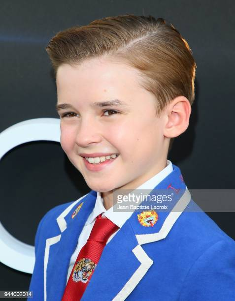 Maxwell Jenkins attends the premiere of Netflix's 'Lost In Space' Season 1 on April 9 2018 in Los Angeles California