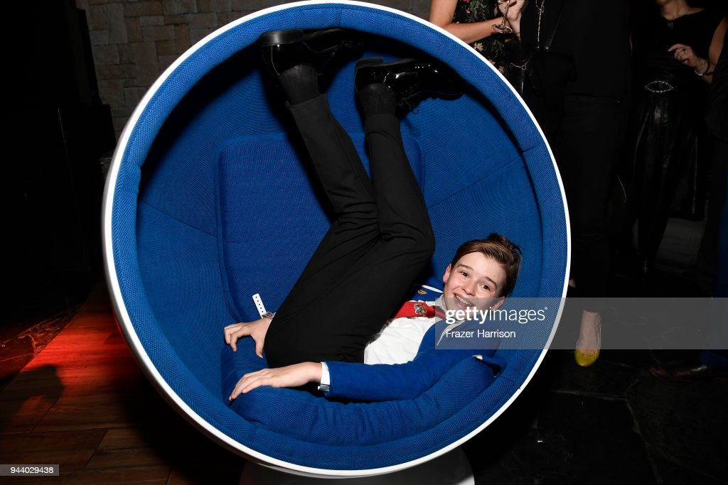 Maxwell Jenkins attends the Premiere Of Netflix's 'Lost In Space' Season 1 After Party at Le Jardin LA on April 9, 2018 in Los Angeles, California.