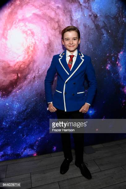 Maxwell Jenkins attends the Premiere Of Netflix's 'Lost In Space' Season 1 After Party at Le Jardin LA on April 9 2018 in Los Angeles California