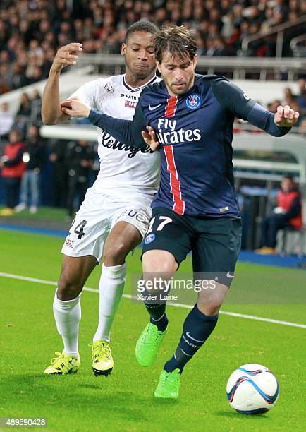 Maxwell of Paris SaintGermain during the French Ligue 1 between Paris SaintGermain FC and EA Guingamp at Parc Des Princes on september 22 2015 in...