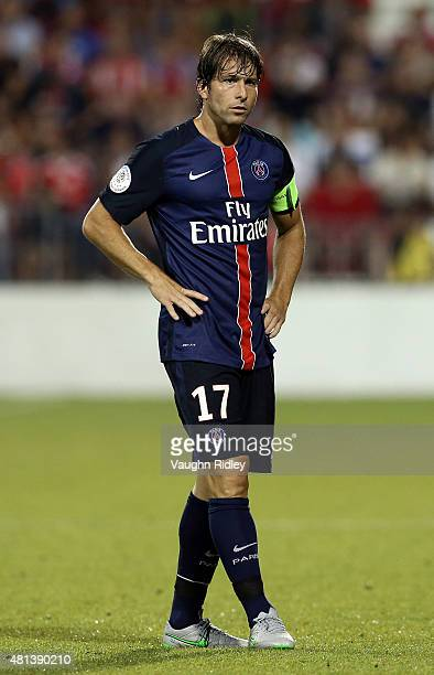 Maxwell of Paris SaintGermain in action during the 2015 International Champions Cup match against Benfica at BMO Field on July 18 2015 in Toronto...