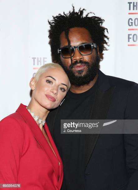 Maxwell Osborne and Yes Julz attend the 2017 Gordon Parks Foundation Awards Gala at Cipriani 42nd Street on June 6 2017 in New York City