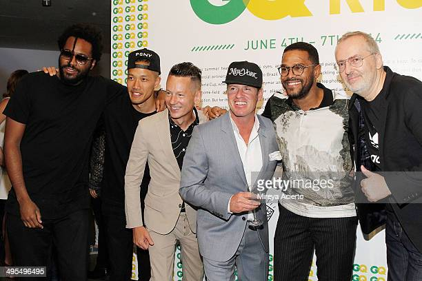 Maxwell Osborne DaoYi Chow Jim Nelson Ben Watts Maxwell and Jim Moore attend the GQ and Ben Watts Photo Exhibition celebrating the June issue and The...