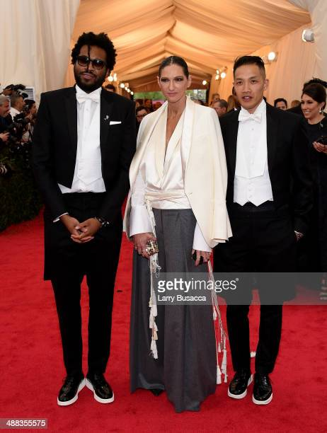 Maxwell Osborne Jenna Lyons and DaoYi Chow attend the 'Charles James Beyond Fashion' Costume Institute Gala at the Metropolitan Museum of Art on May...
