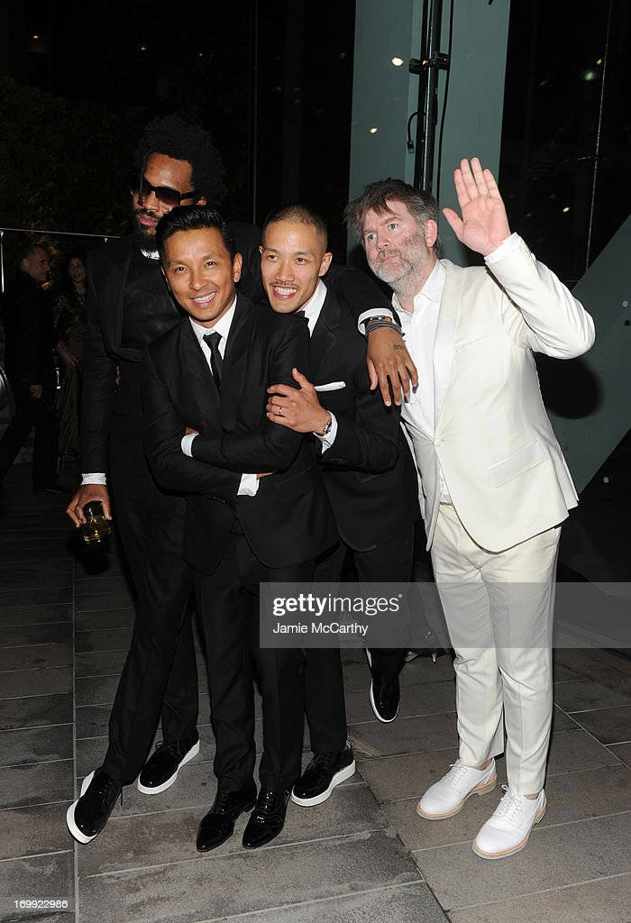 Maxwell Osborne, Prabal Gurung, Dao-yi Chow, and James Murphy attend the 2013 CFDA Fashion Awards on June 3, 2013 in New York, United States.
