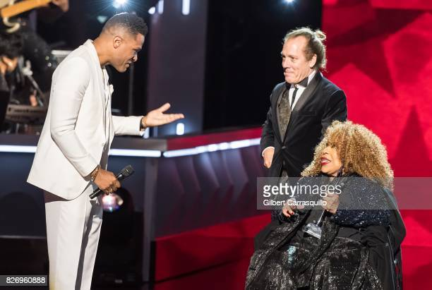 Maxwell presents Honoree Roberta Flack with her award onstage during Black Girls Rock 2017 at New Jersey Performing Arts Center on August 5 2017 in...