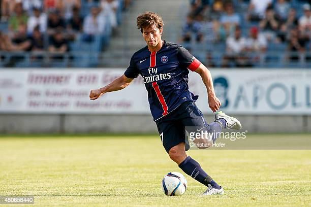 Maxwell Scherrer Cabelino Andrade of Paris SaintGermain controls the ball during the Friendly Match between Wiener Sportklub and Paris SaintGermain...