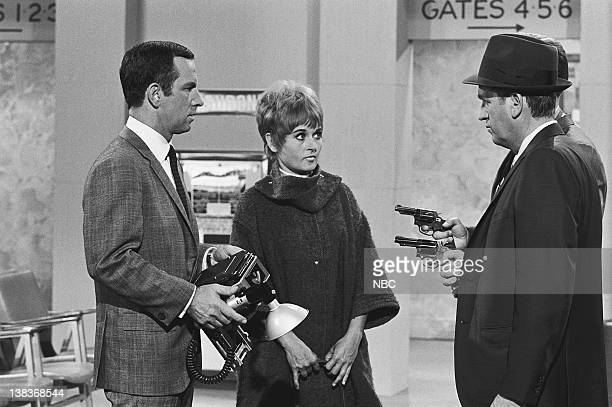 GET SMART Maxwell Smart Private Eye Episode 5 Aired 10/21/67 Pictured Don Adams as Maxwell Smart Agent 86 Roxane Berard as foreign diplomat Trinka...