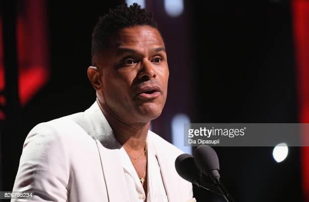 Maxwell speaks onstage during Black Girls Rock 2017 at NJPAC on August 5 2017 in Newark New Jersey