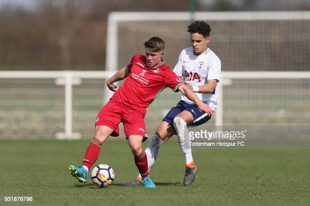 Maxwell Statham of Tottenham Hotspur in action during the U18 Premier League match between Tottenham Hotspur and Swansea City at Tottenham Hotspur...