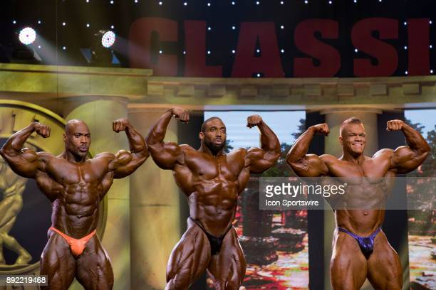 Maxx Charles Cedric McMillan and Dallas McCarver compete in the Arnold Classic as part of the Arnold Sports Festival on March 4 at the Greater...