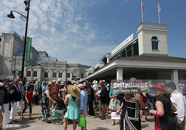 Fans and fashion come together at the 141st running of the Kentucky Derby at Churchill Downs in Louisville Kentucky