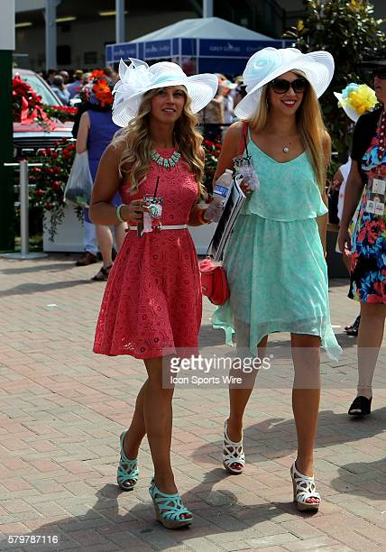 Fans and fashion come together at the 141st running of the Kentucky Derby at Churchill Downs in Louisville, Kentucky.