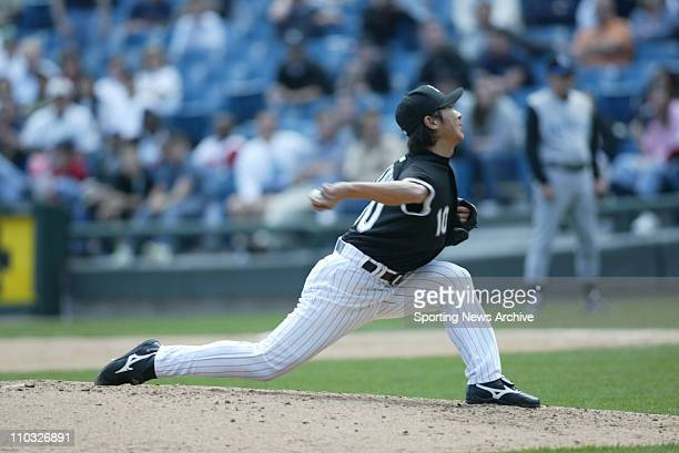 May 05 2005 Chicago IL USA Kansas City Royals against Chicago White Sox Shingo Takatsu in Chicago Ill on May 5 2005 Chicago won 21
