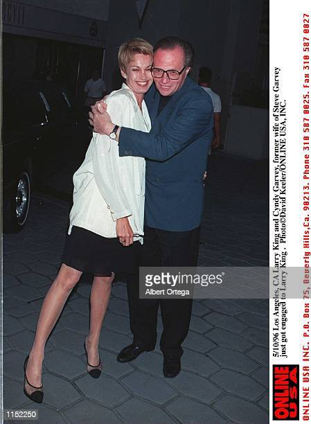 May 10 1996 Los Angeles Ca Larry King and Cyndy Garvey former wife of Steve Garvey who just got engaged to Larry King