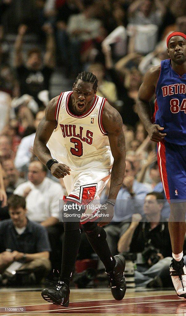 NBA Playoffs: Pistons Beat Bulls 81-74 : News Photo