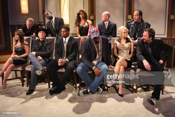 Starting with front row left to right Melissa Rivers Clint Black Herschel Walker Dennis Rodman Brande Roderick Tom Green Jesse James Brian MCKight...