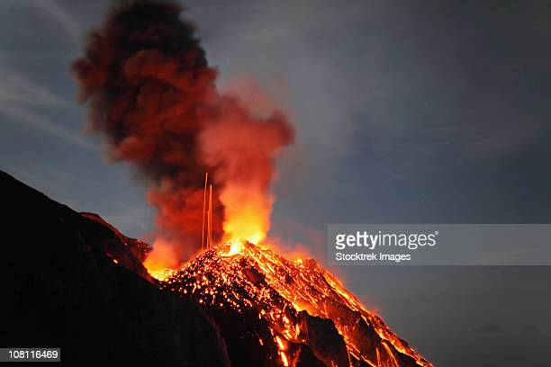 May 10, 2009 - Stromboli eruption, Aeolian Islands, north of Sicily, Italy.