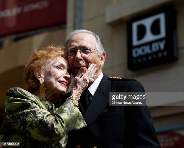 Bernie Kopell poses with the creator of The Love Boat Jeraldine Saunders during the star dedication ceremony at the Hollywood Walk of Fame in Los...