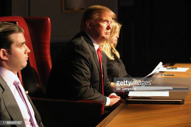 May 10 MANDATORY CREDIT Bill Tompkins/Getty Images Donald Trump, Donald Trump Jr and Ivanka Trump on set during the Season Finale of the Celebrity...