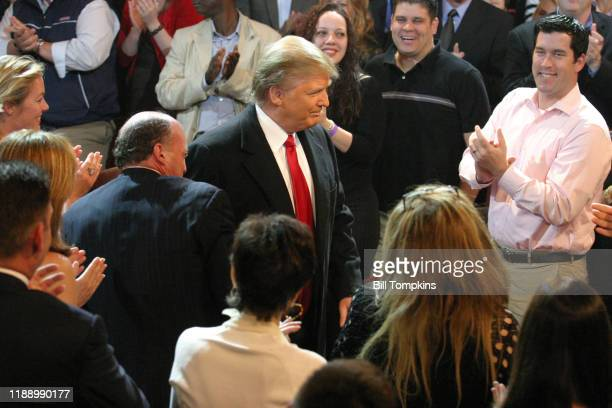 May 10 MANDATORY CREDIT Bill Tompkins/Getty Images Donald Trump enters the auditorium for the Season Finale of the Celebrity Apprentice on May 10,...