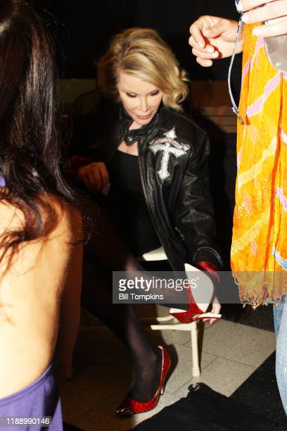 May 10 MANDATORY CREDIT Bill Tompkins/Getty Images Joan Rivers trying on shoes prior to the the Season Finale of the Celebrity Apprentice on May 10,...