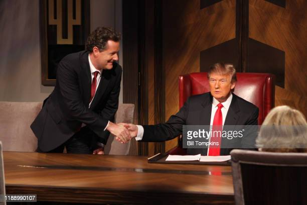 May 10 MANDATORY CREDIT Bill Tompkins/Getty Images Piers Morgan on the set of the Season Finale of the Celebrity Apprentice on May 10, 2009 in New...