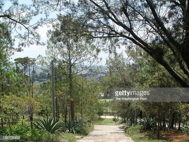 The view from a hill overlooking Santa Rosa de Copan the largest city in Western Honduras Santa Rosa marks the beginning of the Lenca Trail and is...