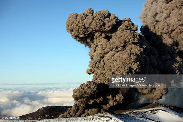 May 12, 2010 - Aerial view of ash cloud erupting from Eyjafjallajokull Volcano, Iceland.